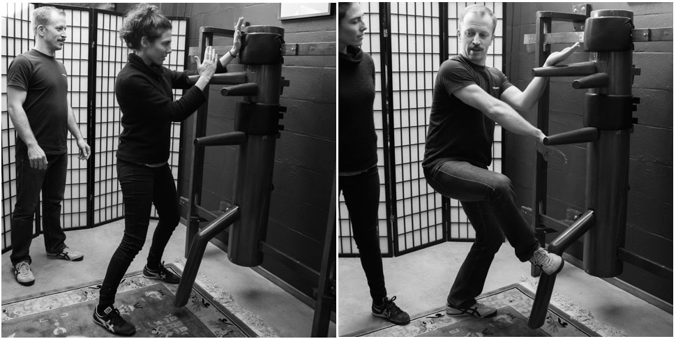 Wing Chun Wooden Dummy Training at Resilience Massage and Training