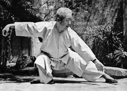 Professor Cheng Man Ching performing Tai Chi Chuan