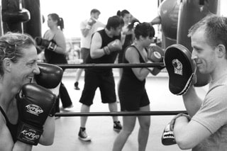 Boxing classes for fitness and weight loss at Resilience Massage and Training